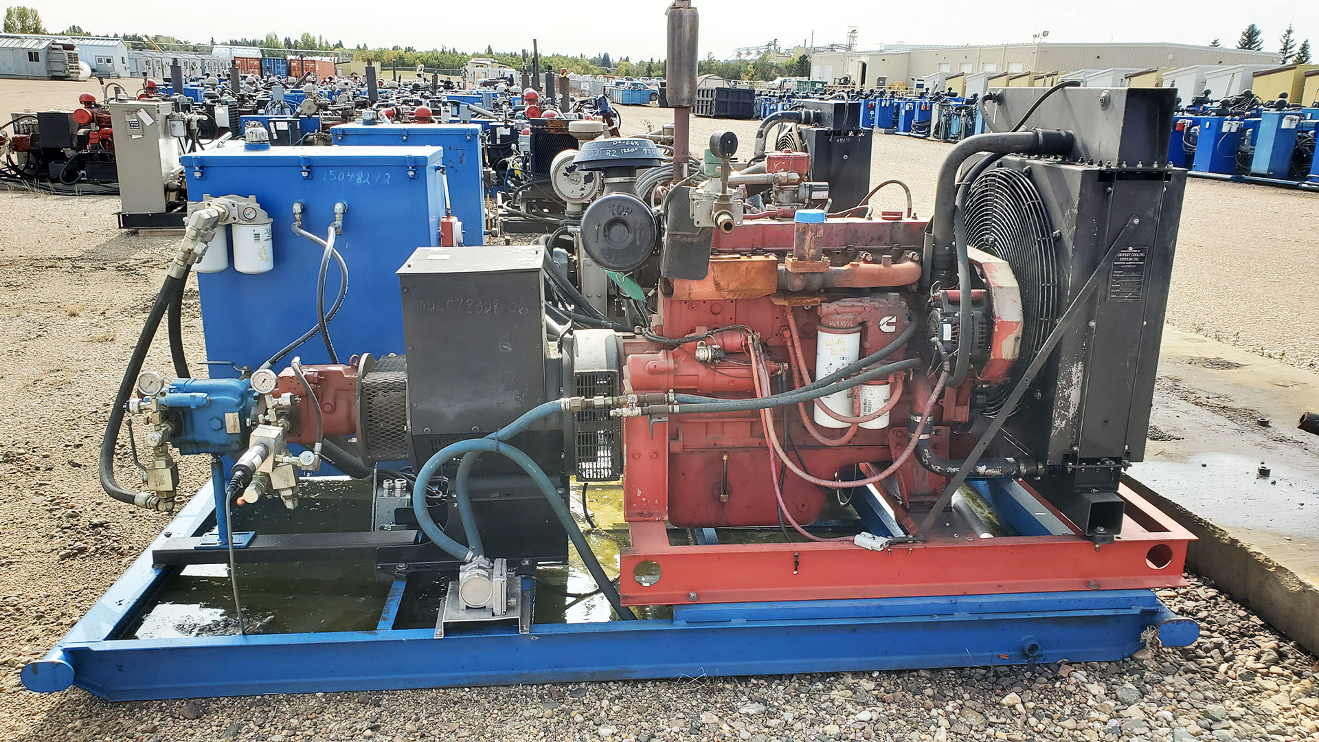 Hydraulic Power Pack - used / surplus water transfer or oil transfer pump packages for sale in Alberta