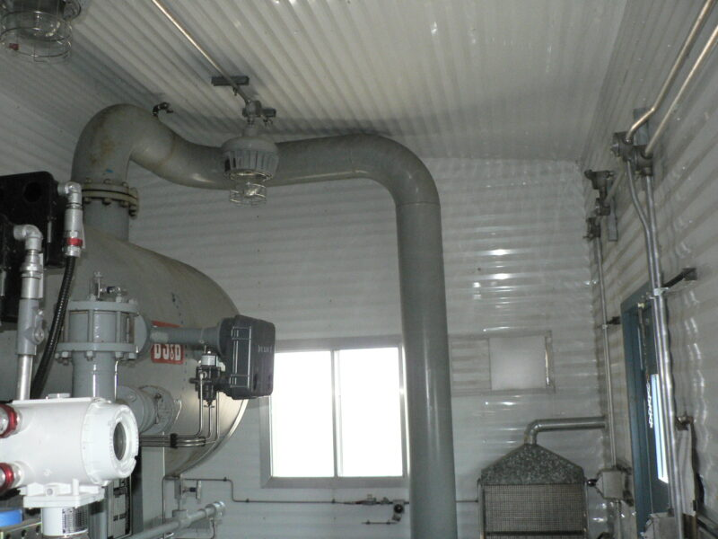 """48"""" x 15' Sweet 280psi Horizontal 2 Phase Separator - interior 3"""