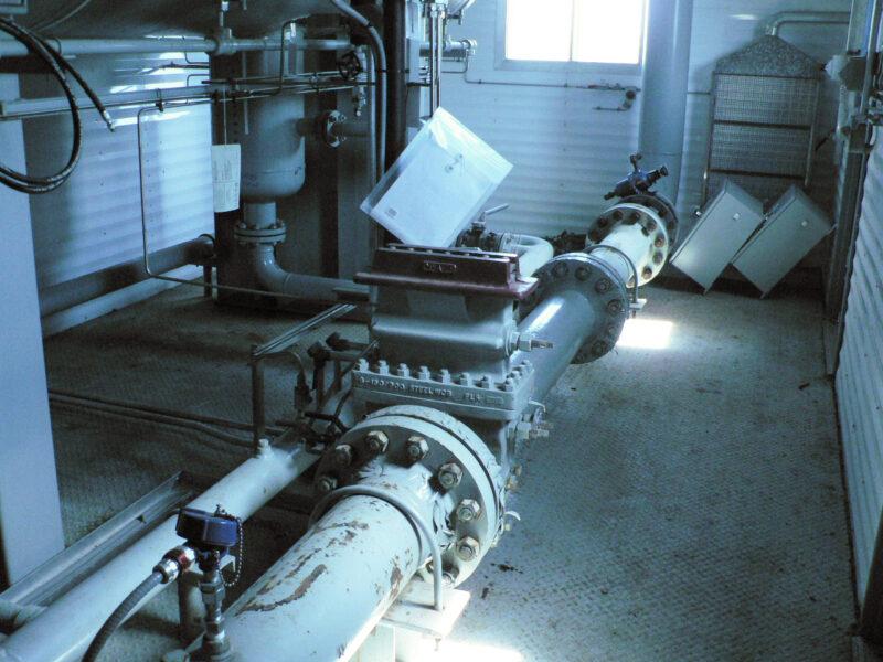 """48"""" x 15' Sweet 280psi Horizontal 2 Phase Separator - interior 6"""