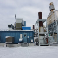Exterior 1 - Used 2500 kW / 2 MW Allison Natural Gas Turbine Generator Package for sale in Alberta