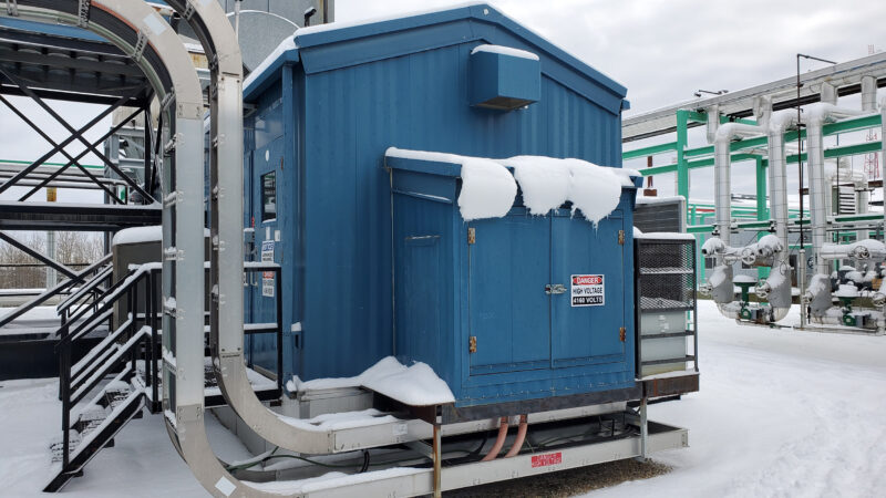 Exterior 2 - Used 2500 kW / 2 MW Allison Natural Gas Turbine Generator Package for sale in Alberta