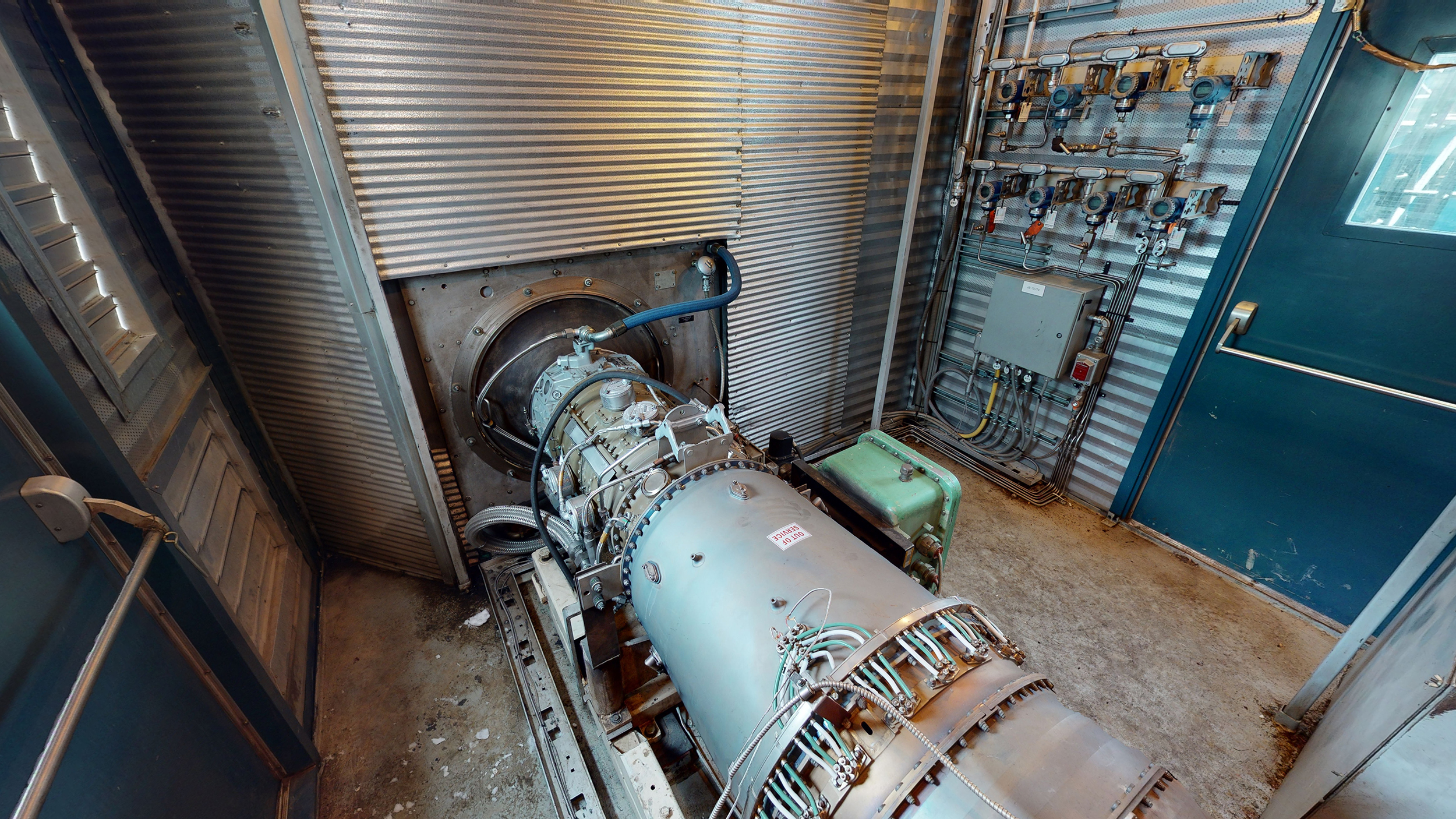 Interior 4 - natural gas turbine - Used 2500 kW / 2 MW Allison Natural Gas Turbine Generator Package for sale in Alberta