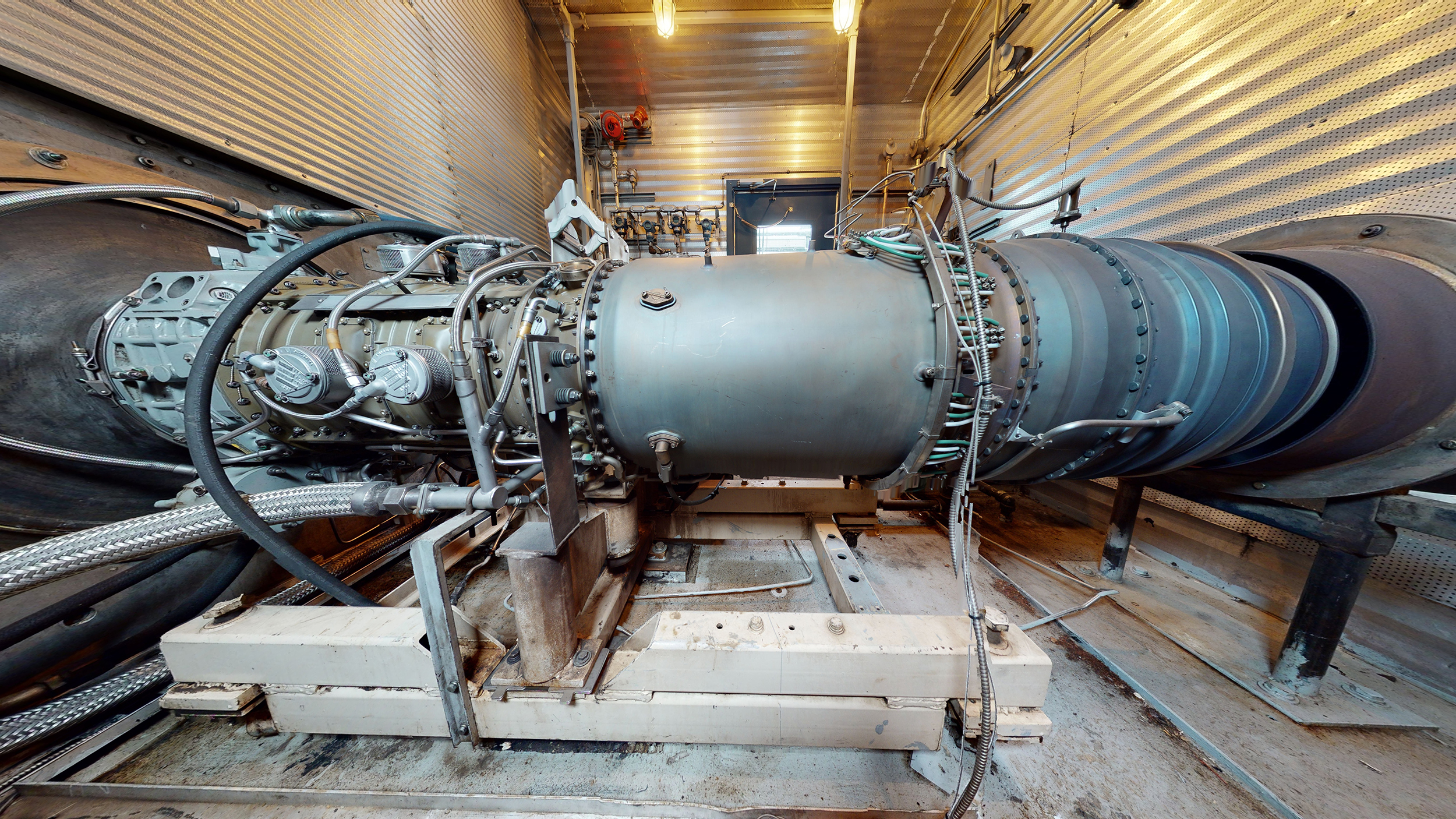 Interior 3 - natural gas turbine - Used 2500 kW / 2 MW Allison Natural Gas Turbine Generator Package for sale in Alberta