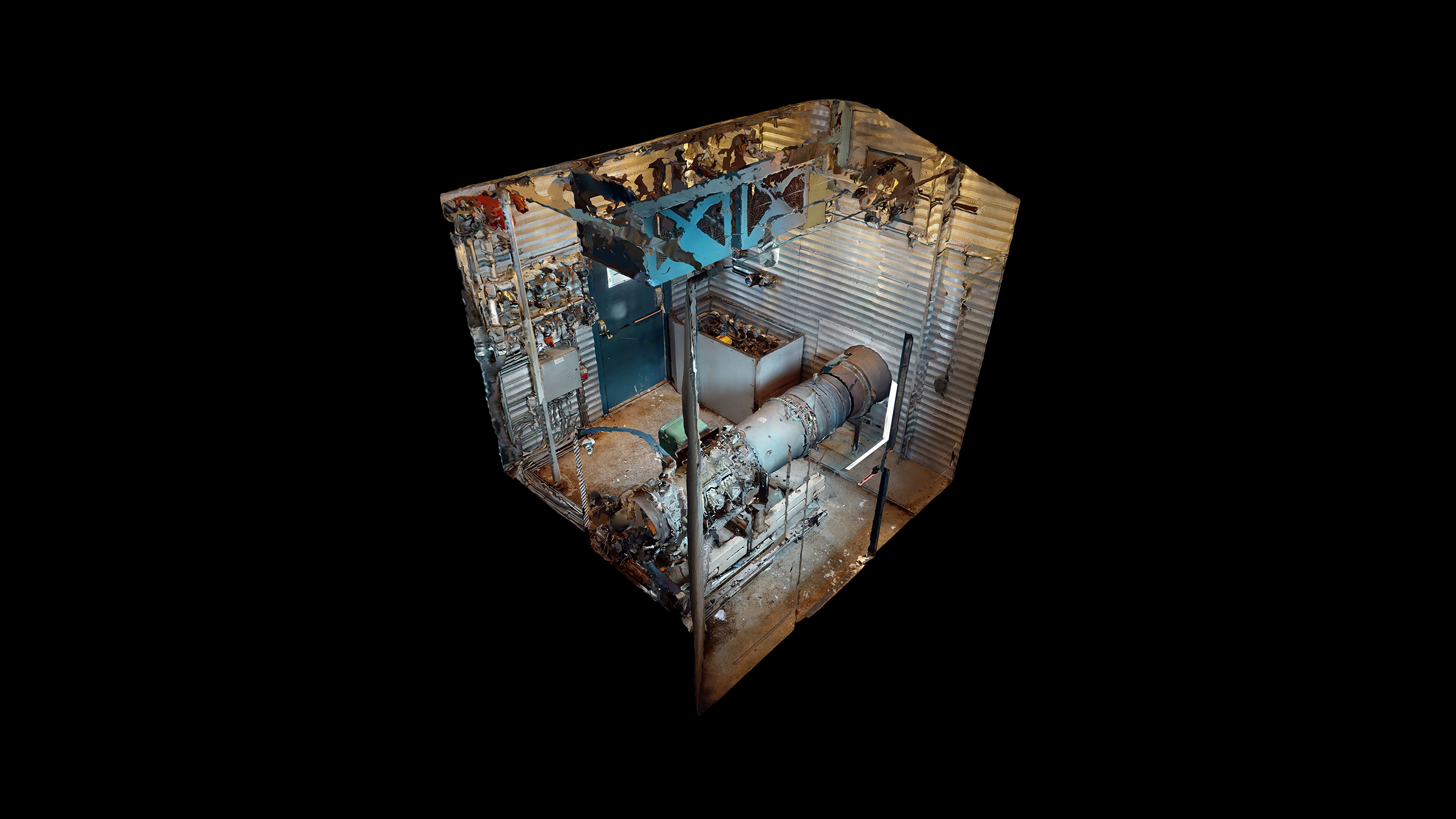 Interior 1 - natural gas turbine - Used 2500 kW / 2 MW Allison Natural Gas Turbine Generator Package for sale in Alberta
