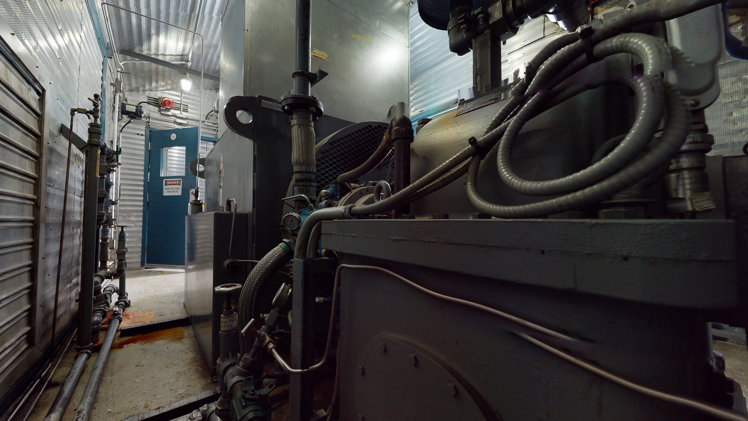 Interior 4 - gearbox & generator end - Used 2500 kW / 2 MW Allison Natural Gas Turbine Generator Package for sale in Alberta