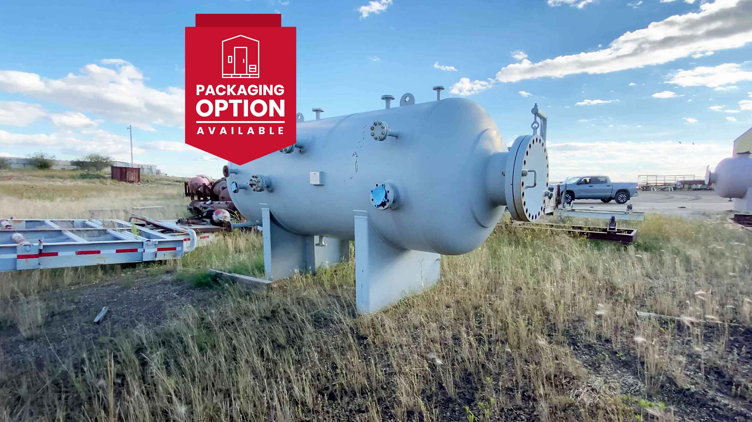 """New never used 60"""" x 10' Sweet 720psi Horizontal 2 Phase Vessel for sale in Alberta - packaging option available"""