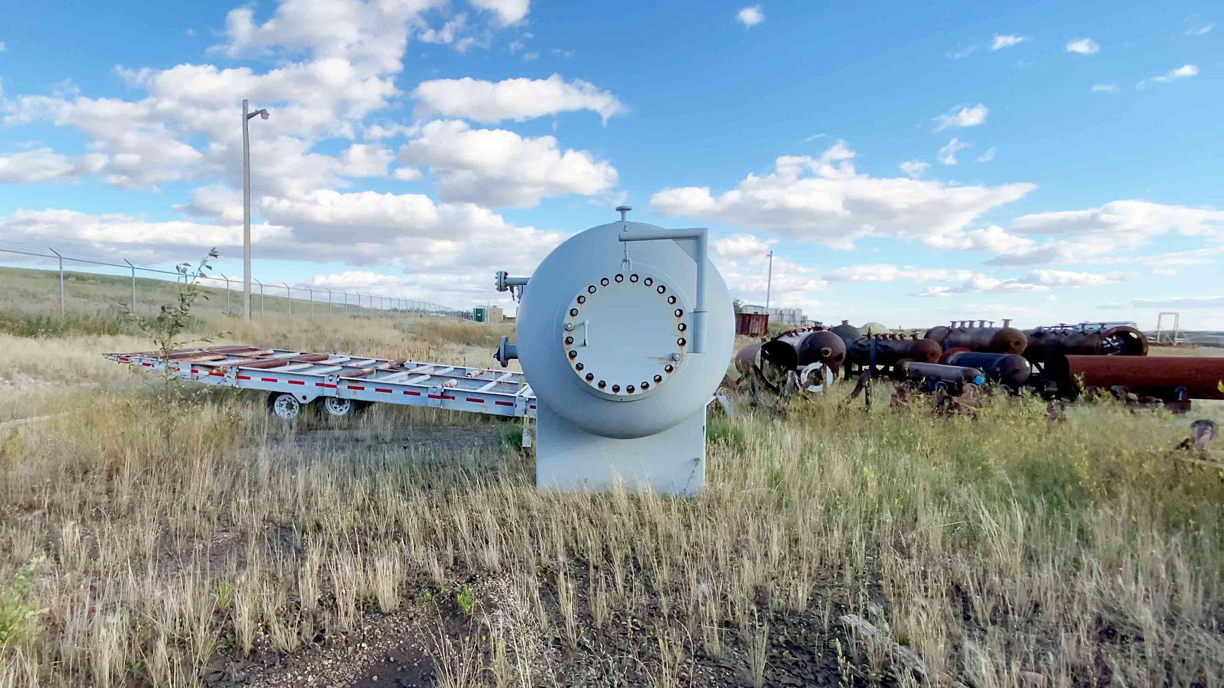 """3 New never used 60"""" x 10' Sweet 720psi Horizontal 2 Phase Vessel for sale in Alberta - packaging option available"""