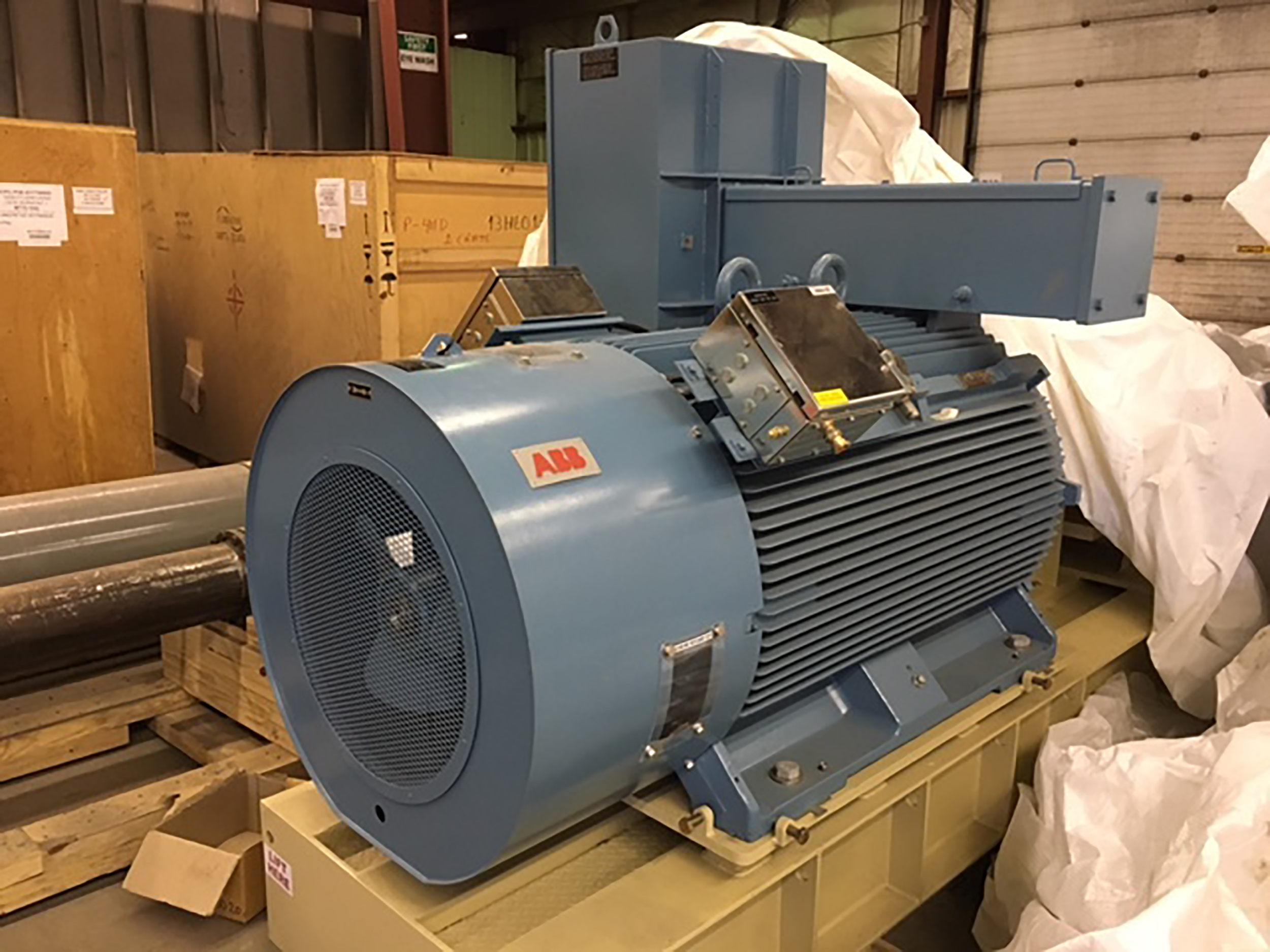 ABB motor 3 - Never used – Two (2x) 700HP Centrifugal Multi-stage Bare Pumps & Motors + Full Packaging Option for sale in Edmonton Alberta