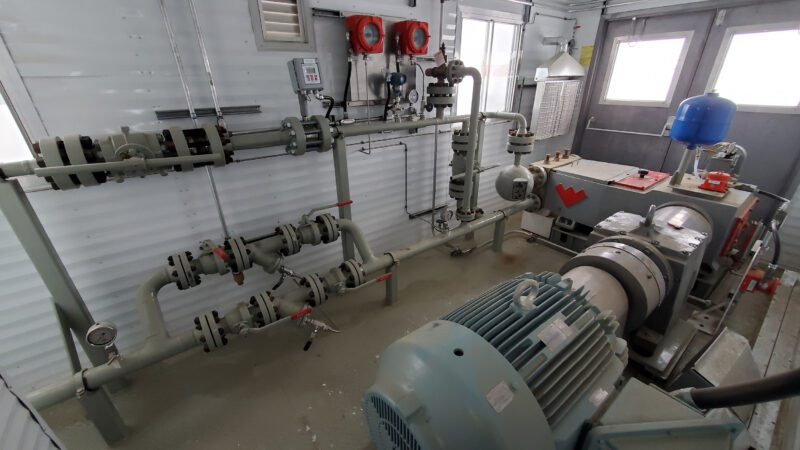 Interior 1 – 150HP Weatherford W165 H fluid end W165H Jet Pump Packages for sale in Alberta Canada used surplus oilfield oil and gas energy equipment