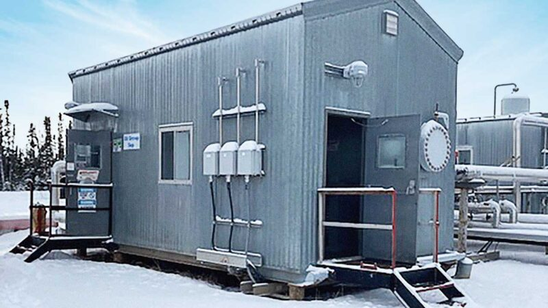 "Exterior – Used 64"" x 18' 720psi Sour Separator Package Surplus for sale in Alberta Saskatchewan British Columbia AB BC SK Canada"