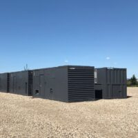 Used 1100 kW Cummins QSK60 Mark 1 V16 Natural Gas Generator Packages for sale in Alberta Canada oilfield oil and gas energy surplus equipment