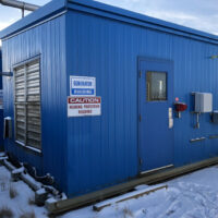 Used 200kW CAT G3406TA / MEC CALTE EC038-1CN Generator Packages for sale in Alberta Canada Behind the fence power surplus oilfield energy equipment 1