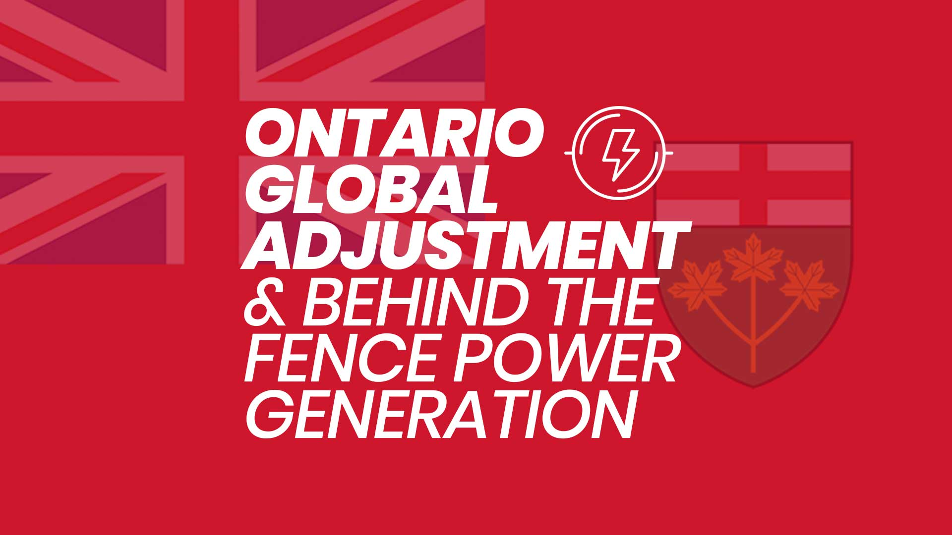 Ontario Global Agreement (GA) & The Demand For Behind The Fence Power Generation –Used New Surplus Natural Gas Generators for Sale in Ontario Canada